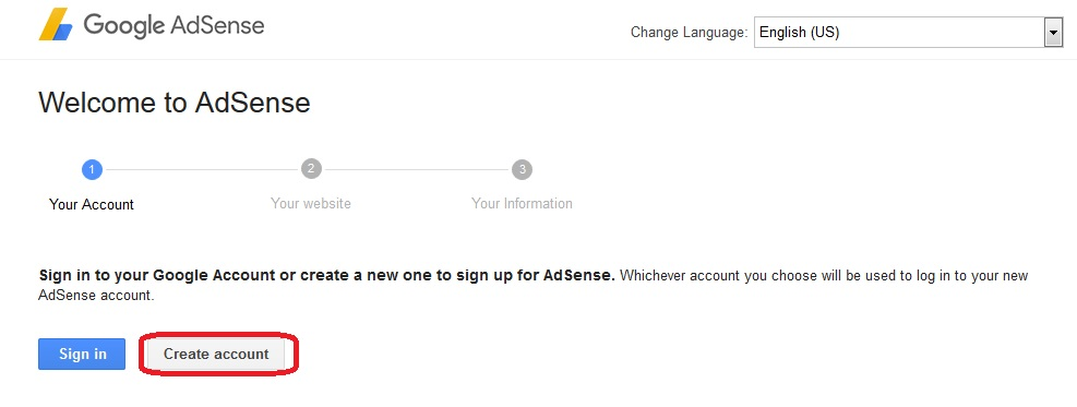"alt=""Google Adsense create account"""